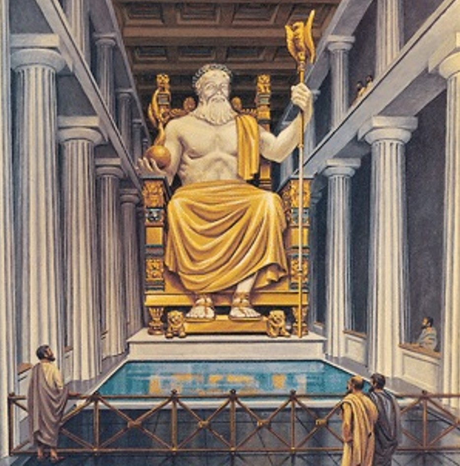 the statue of zeus at olympia one of the 7 ancient wonders of the